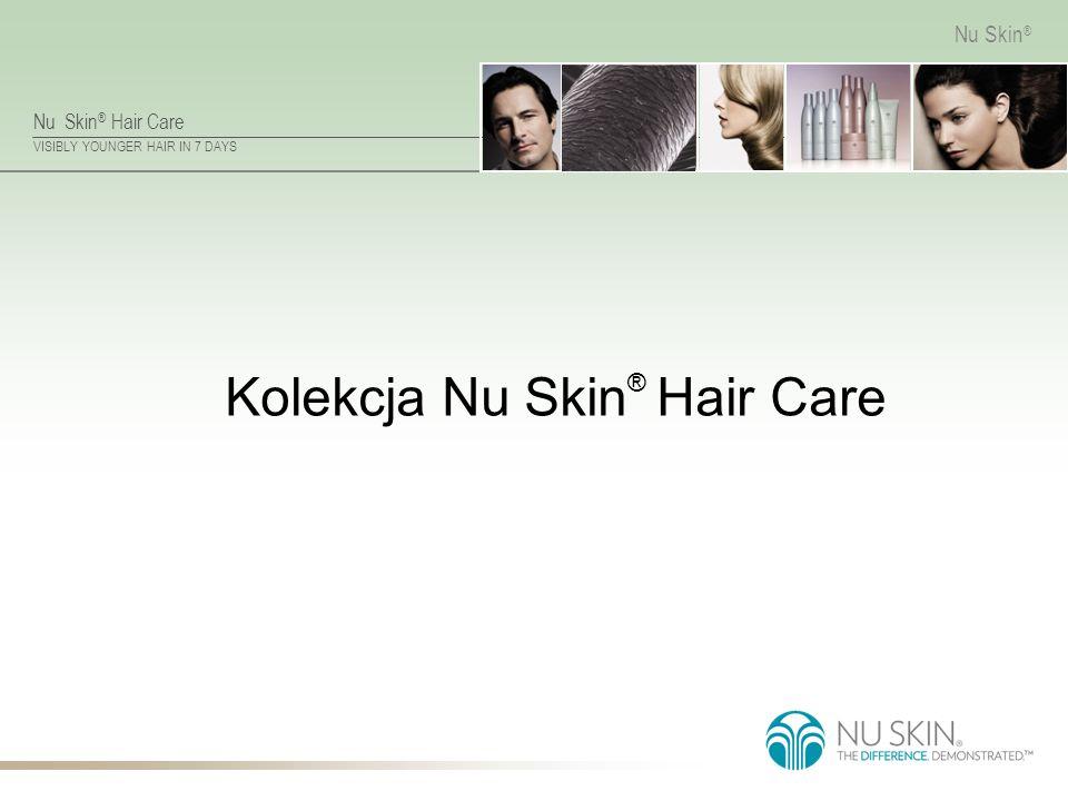 Nu Skin ® Hair Care VISIBLY YOUNGER HAIR IN 7 DAYS Nu Skin ® Wzmacnianie Warstwy Korowej Zdrowe, lśniące włosy od podstaw.