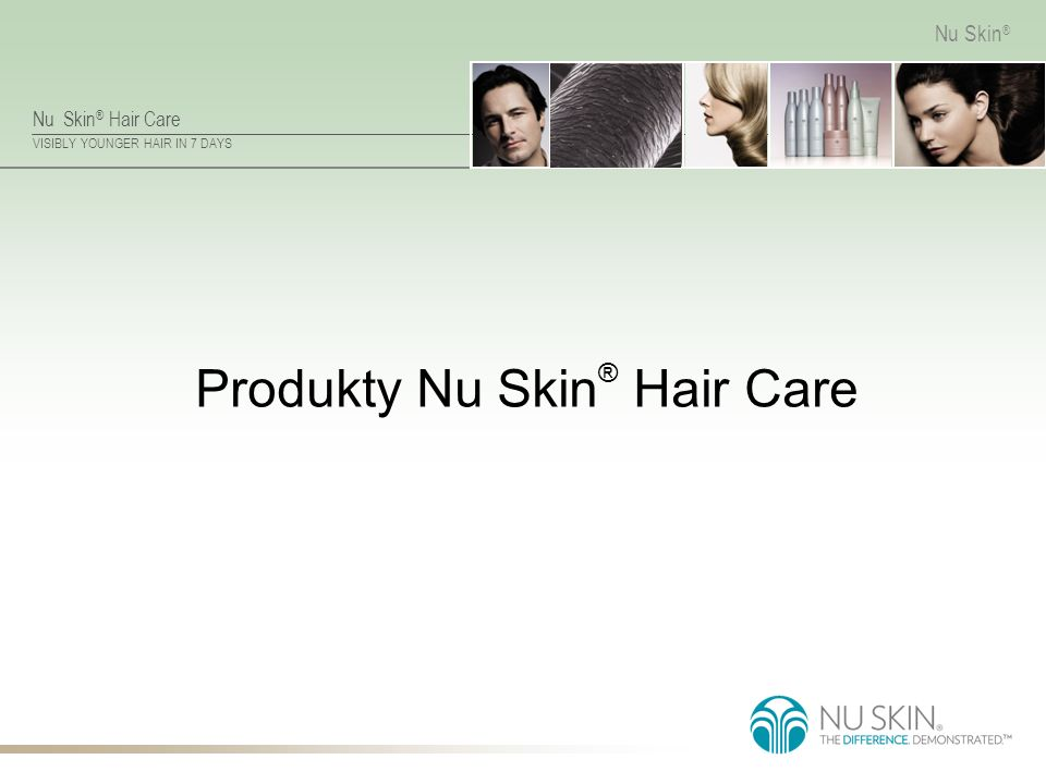 Nu Skin ® Hair Care VISIBLY YOUNGER HAIR IN 7 DAYS Nu Skin ® Produkty Nu Skin ® Hair Care
