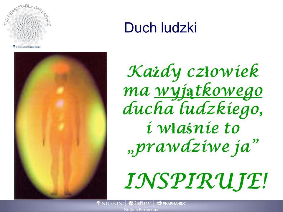 Duch ludzki Ka ż dy cz ł owiek ma wyj ą tkowego ducha ludzkiego, i w ł a ś nie to prawdziwe ja INSPIRUJE!