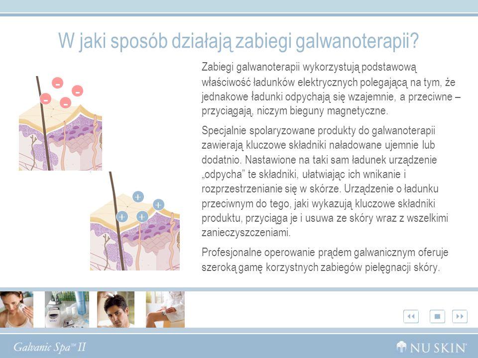 W jaki sposób działają zabiegi galwanoterapii? Zabiegi galwanoterapii wykorzystują podstawową w ł aściwość ładunków elektrycznych polegającą na tym, ż