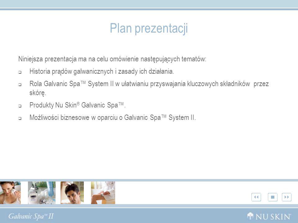 Plan prezentacji Niniejsza prezentacja ma na celu omówienie następujących tematów: Historia prądów galwanicznych i zasady ich działania. Rola Galvanic