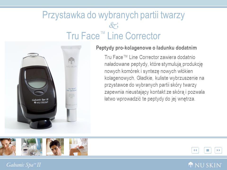 Peptydy pro-kolagenowe o ładunku dodatnim Tru Face Line Corrector zawiera dodatnio naładowane peptydy, które stymulują produkcję nowych komórek i synt