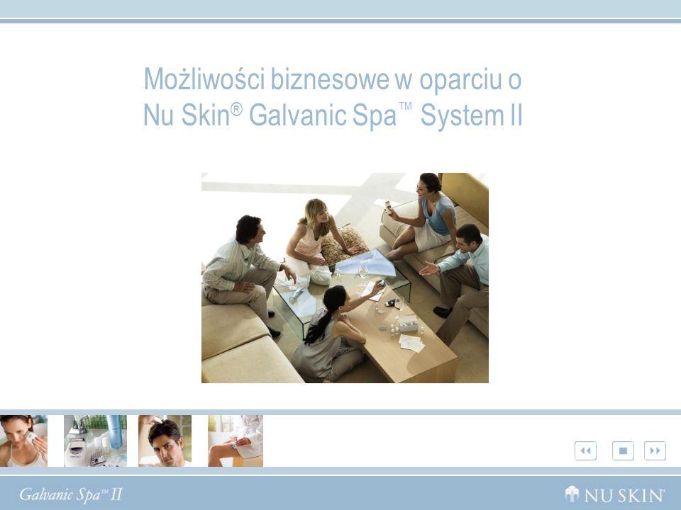 Możliwości biznesowe w oparciu o Nu Skin ® Galvanic Spa System II