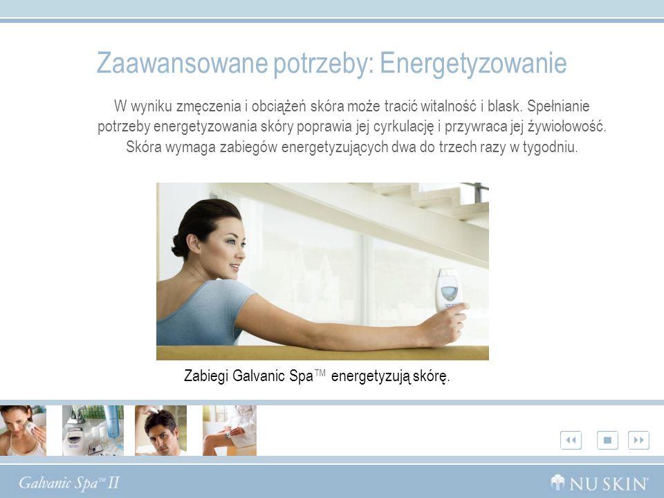 Zaawansowane potrzeby: Energetyzowanie W wyniku zmęczenia i obciążeń skóra może tracić witalność i blask.
