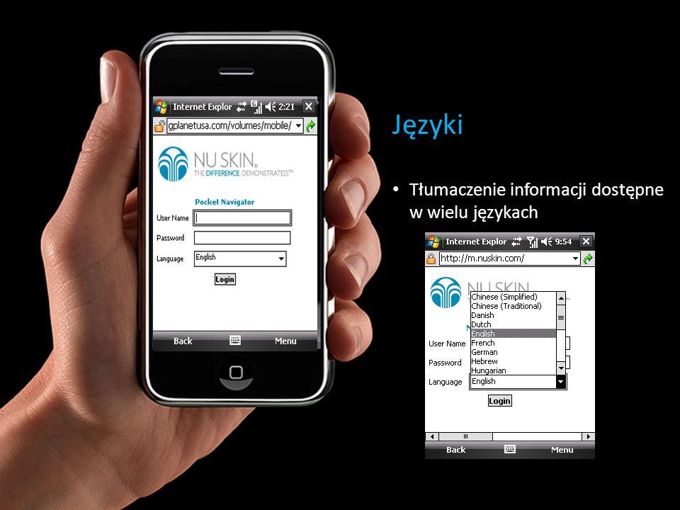 Języki Tłumaczenie informacji dostępne w wielu językach