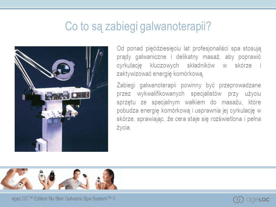 ageLOC Edition Nu Skin Galvanic Spa System II Co to są zabiegi galwanoterapii? Od ponad pięćdziesięciu lat profesjonaliści spa stosują prądy galwanicz