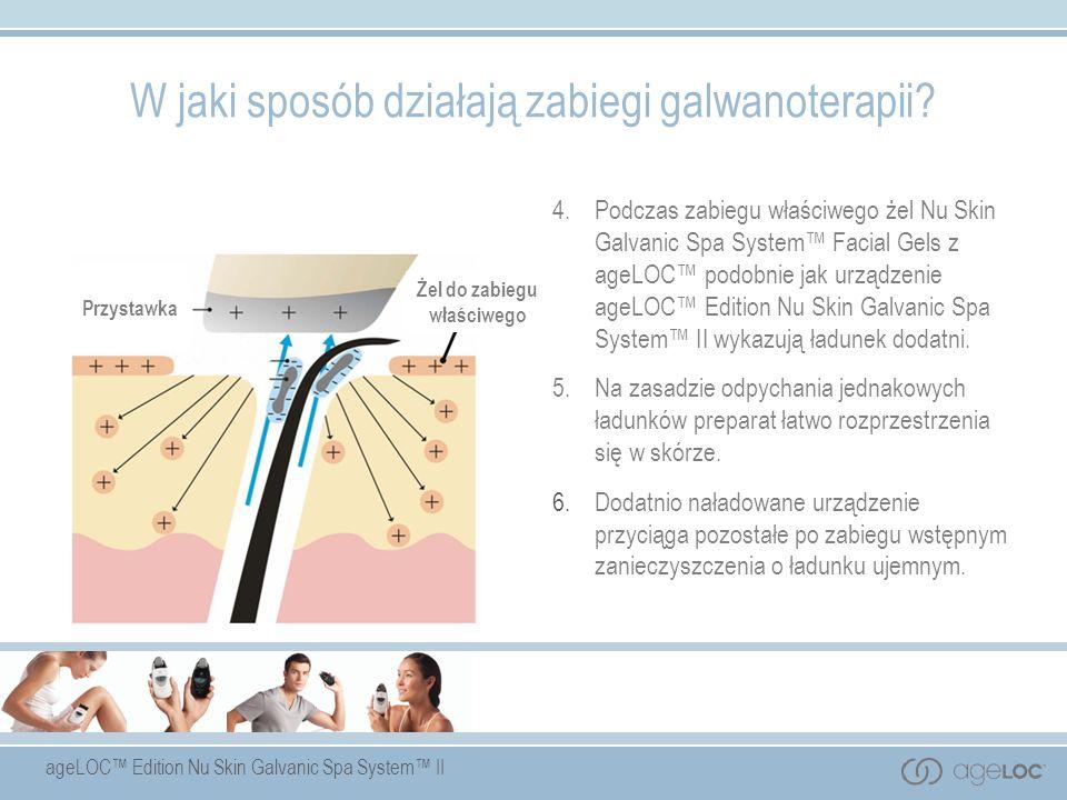 ageLOC Edition Nu Skin Galvanic Spa System II Przystawka G Żel do zabiegu właściwego 4.Podczas zabiegu właściwego żel Nu Skin Galvanic Spa System Faci