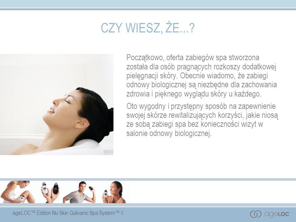 CZY WIESZ, ŻE...? Początkowo, oferta zabiegów spa stworzona została dla osób pragnących rozkoszy dodatkowej pielęgnacji skóry. Obecnie wiadomo, że zab