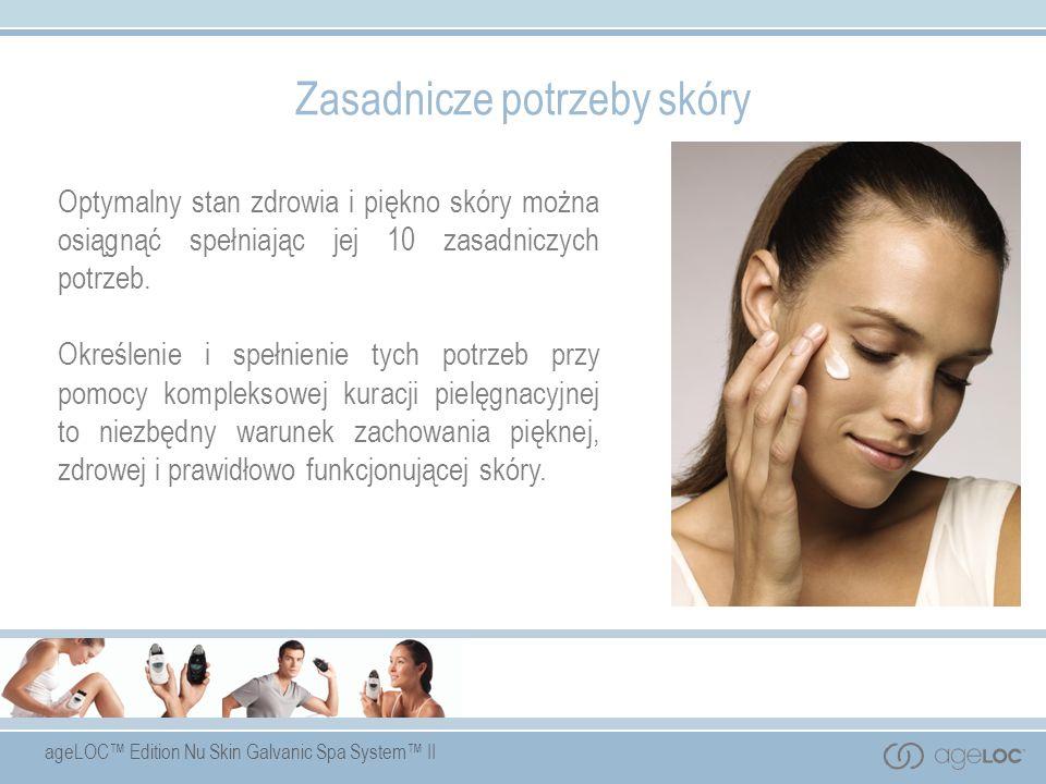 ageLOC Edition Nu Skin Galvanic Spa System II Zasadnicze potrzeby skóry Optymalny stan zdrowia i piękno skóry można osiągnąć spełniając jej 10 zasadni