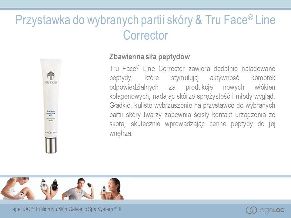 ageLOC Edition Nu Skin Galvanic Spa System II Przystawka do wybranych partii skóry & Tru Face ® Line Corrector Zbawienna siła peptydów Tru Face ® Line