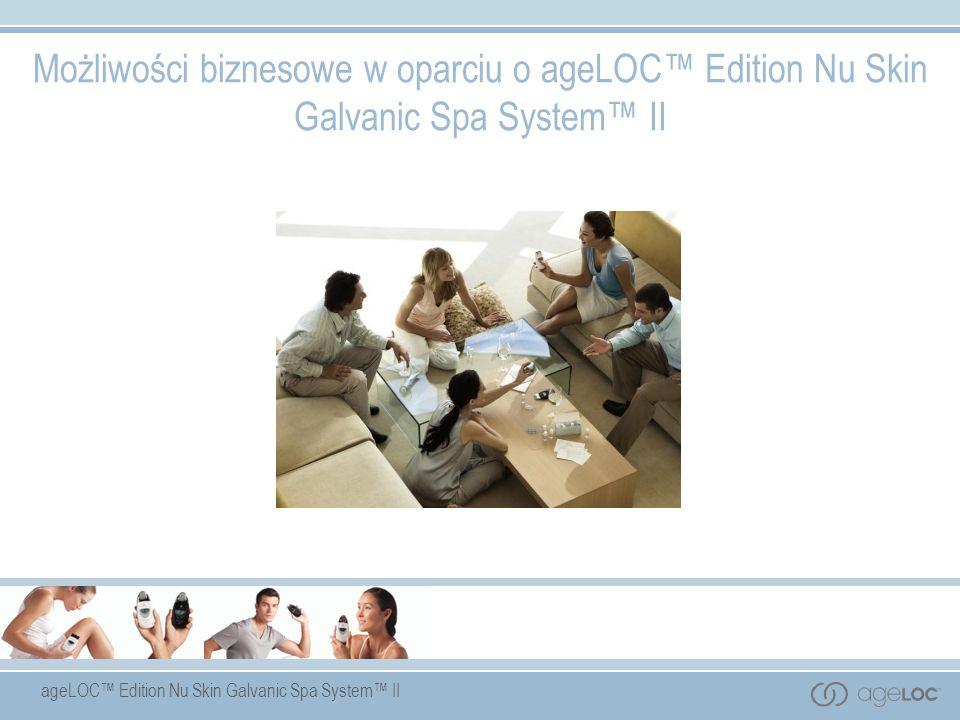 ageLOC Edition Nu Skin Galvanic Spa System II Możliwości biznesowe w oparciu o ageLOC Edition Nu Skin Galvanic Spa System II