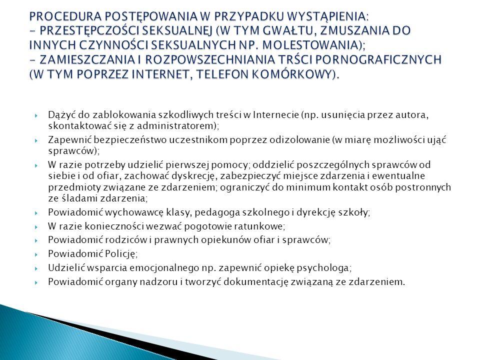 Dążyć do zablokowania szkodliwych treści w Internecie (np.