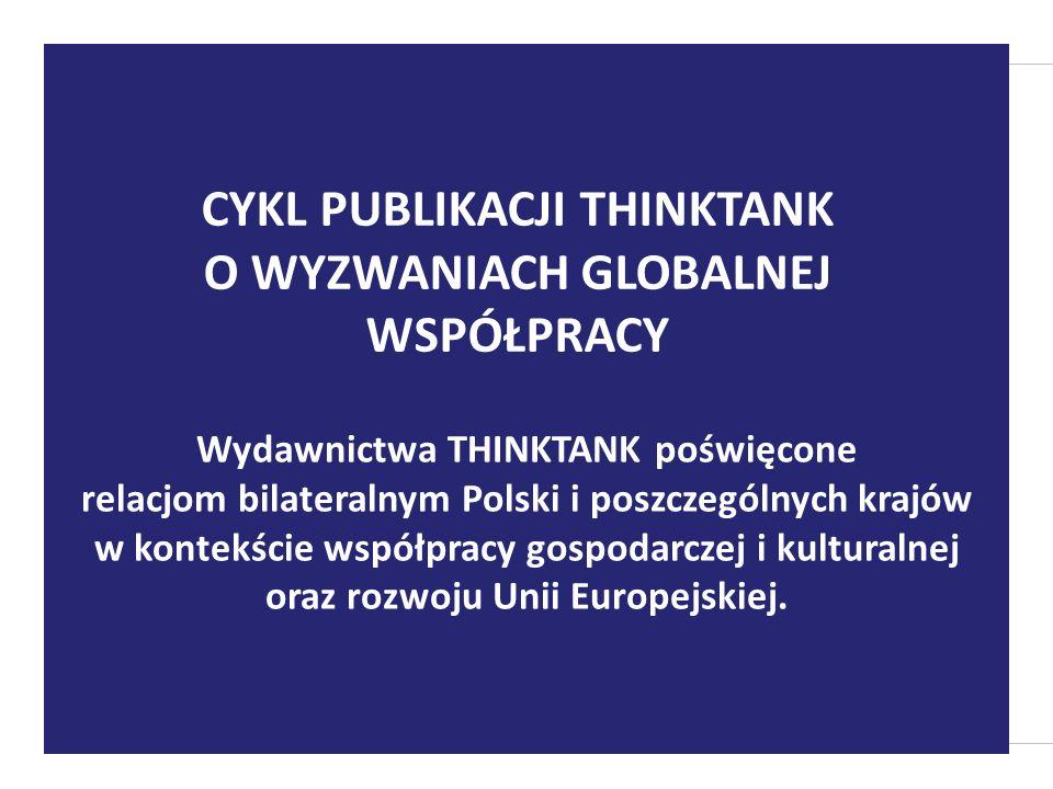 Wydawnictwa THINKTANK poświęcone relacjom bilateralnym Polski i poszczególnych krajów w kontekście współpracy gospodarczej i kulturalnej oraz rozwoju
