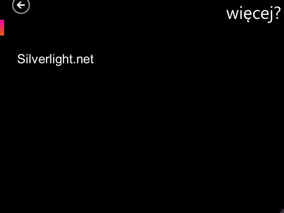 więcej? Silverlight.net