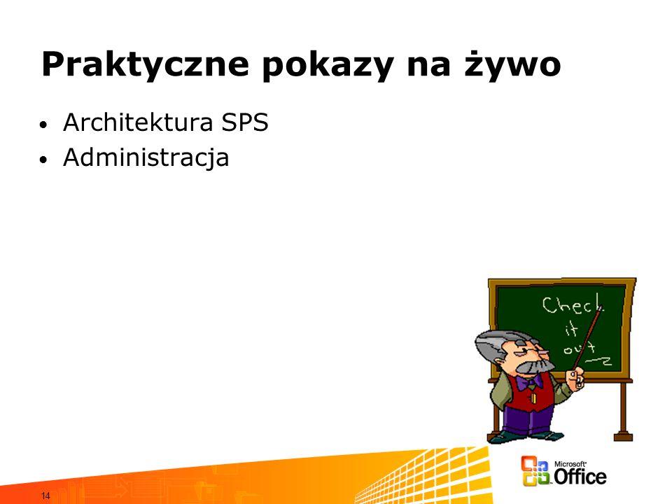 14 Praktyczne pokazy na żywo Architektura SPS Administracja