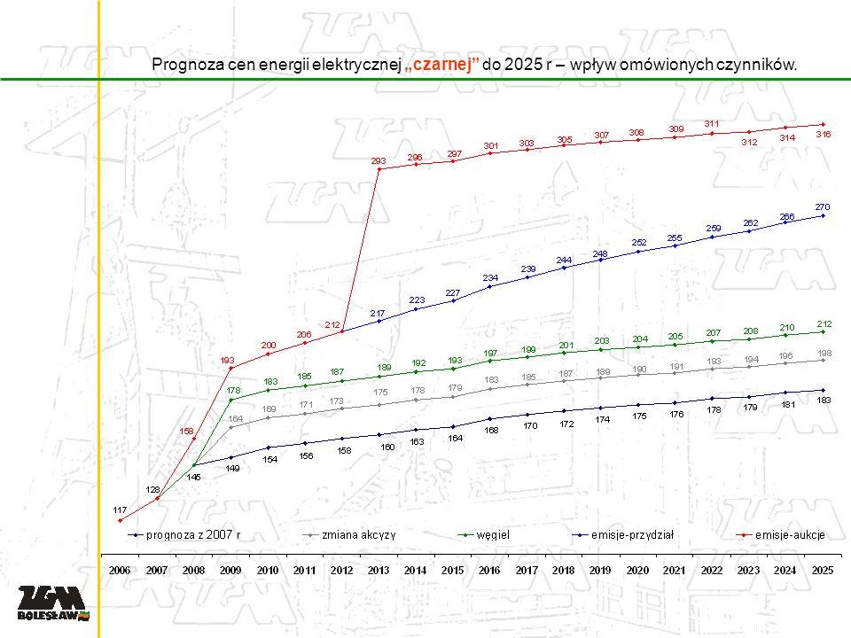 Prognoza cen energii elektrycznej czarnej do 2025 r – wpływ omówionych czynników.