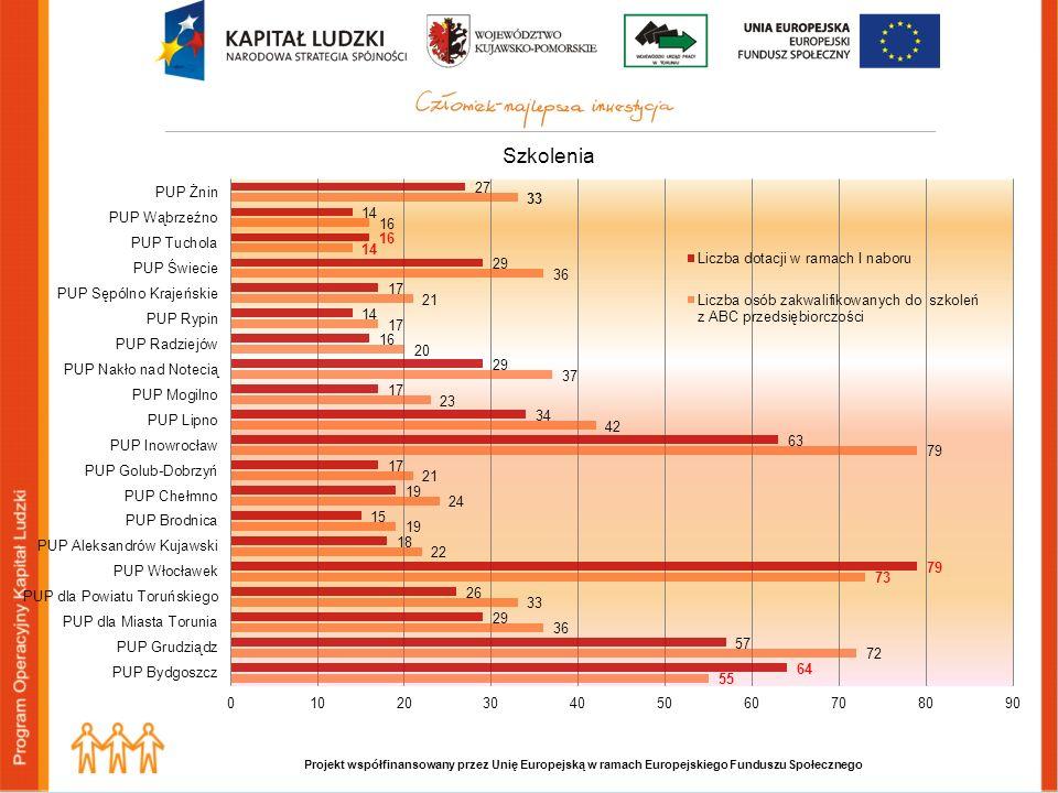 Projekt współfinansowany przez Unię Europejską w ramach Europejskiego Funduszu Społecznego Szkolenia