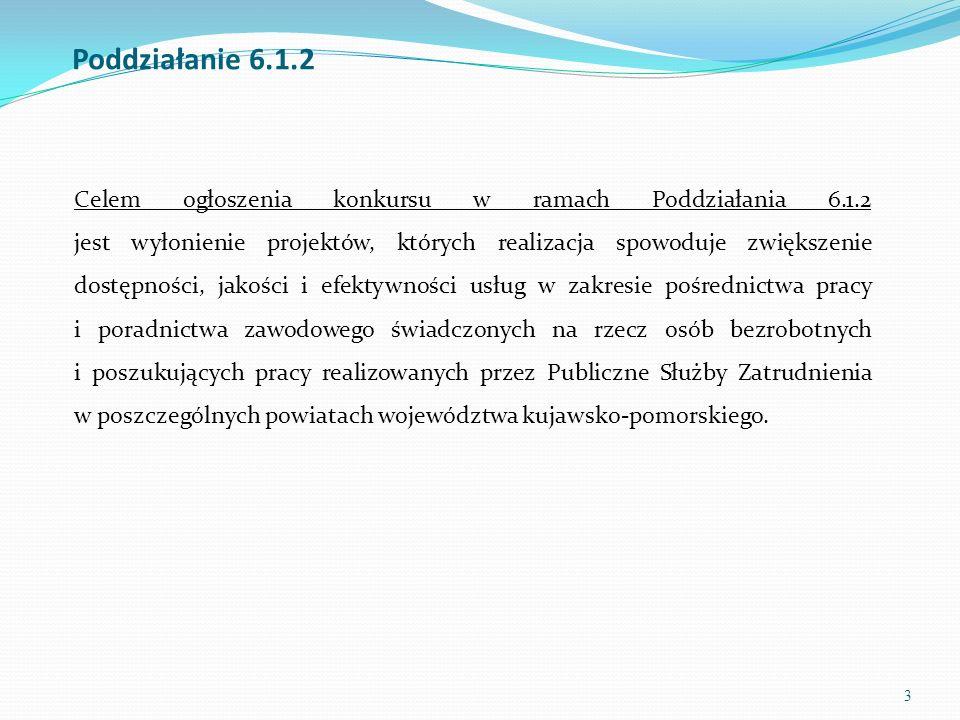 3 Poddziałanie 6.1.2 Celem ogłoszenia konkursu w ramach Poddziałania 6.1.2 jest wyłonienie projektów, których realizacja spowoduje zwiększenie dostępn