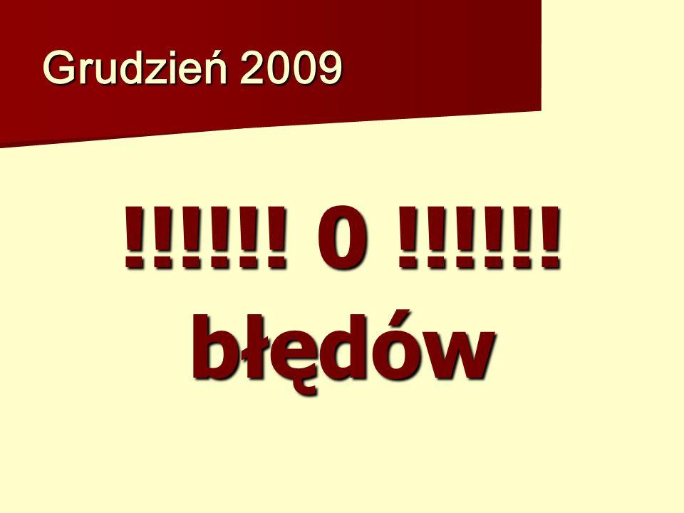 Grudzień 2009 !!!!!! 0 !!!!!! błędów