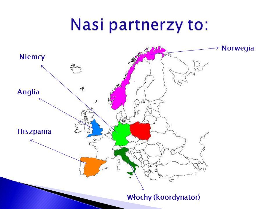 Norwegia Anglia Włochy (koordynator) Hiszpania Niemcy