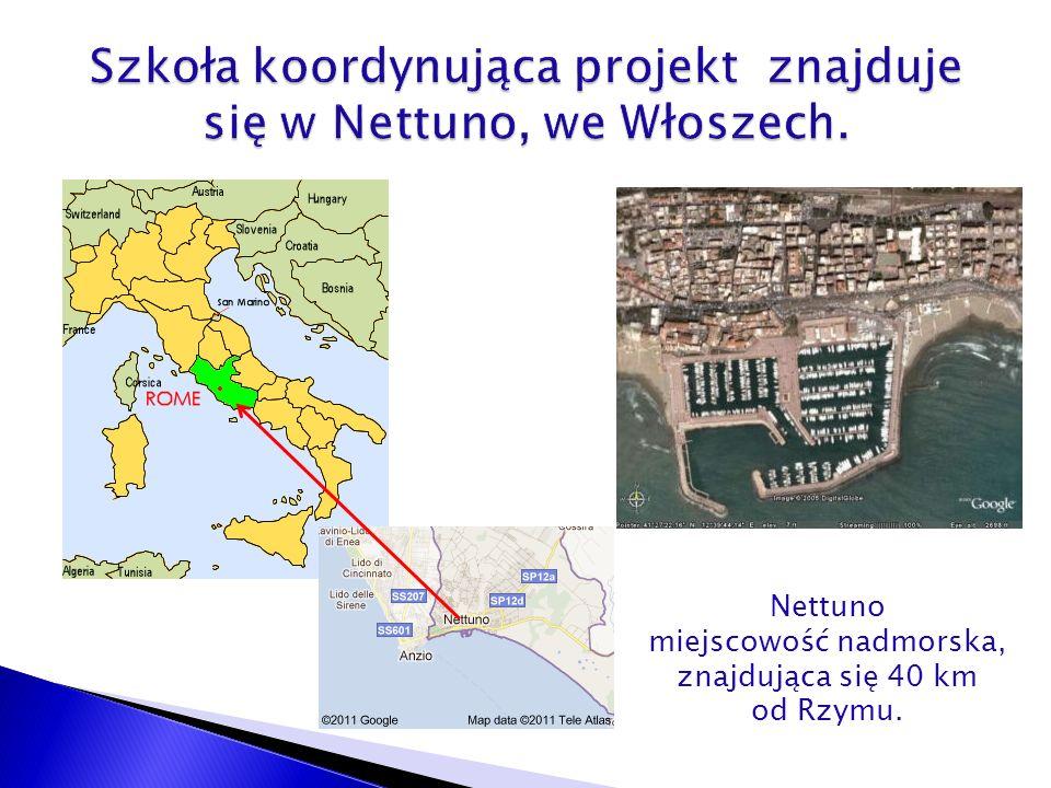 Nettuno miejscowość nadmorska, znajdująca się 40 km od Rzymu.