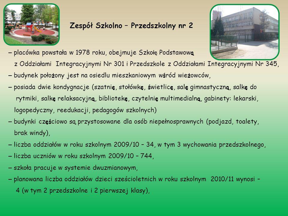 – placówka powstała w 1978 roku, obejmuje Szko łę Podstawow ą z Oddziałami Integracyjnymi Nr 301 i Przedszkole z Oddziałami Integracyjnymi Nr 345, – b