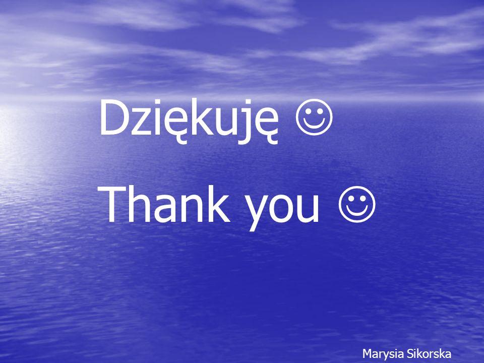 Dziękuję Thank you Marysia Sikorska