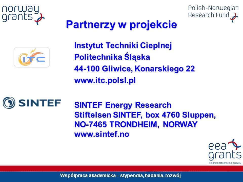 Współpraca akademicka – stypendia, badania, rozwój Partnerzy w projekcie Instytut Techniki Cieplnej Politechnika Śląska 44-100 Gliwice, Konarskiego 22