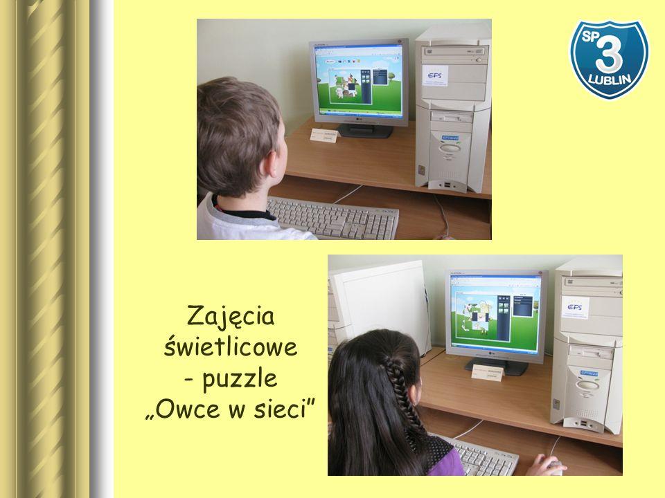 Zajęcia świetlicowe - puzzle Owce w sieci