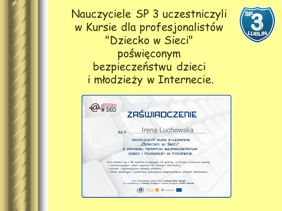 Nasza strona WWW uzyskała certyfikat Strona Przyjazna Dzieciom Certyfikat przyznawany jest przez Fundację Kidprotect.pl O ten certyfikat mogą ubiegać się serwisy, które nie zawierają treści szkodliwych dla dzieci ani ich nie promują, a ich autorzy mają pełną kontrolę nad treścią.