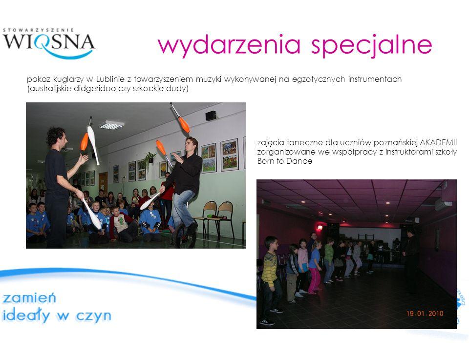 wydarzenia specjalne pokaz kuglarzy w Lublinie z towarzyszeniem muzyki wykonywanej na egzotycznych instrumentach (australijskie didgeridoo czy szkocki