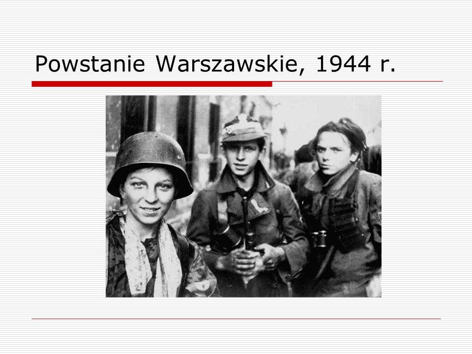 Powstanie Warszawskie, 1944 r.