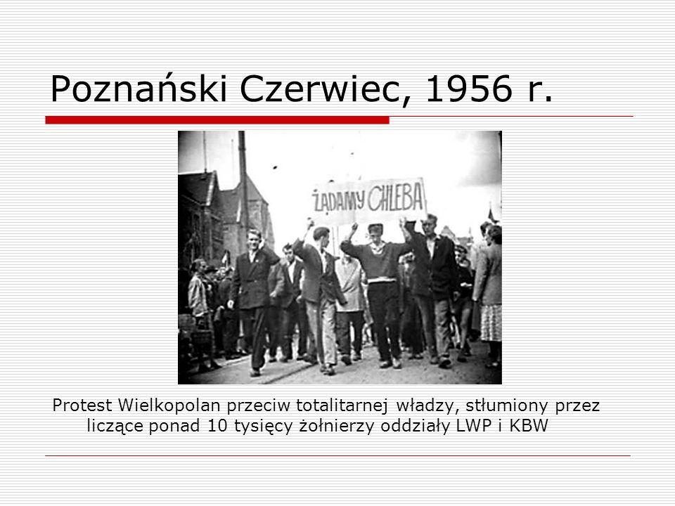 Poznański Czerwiec, 1956 r.