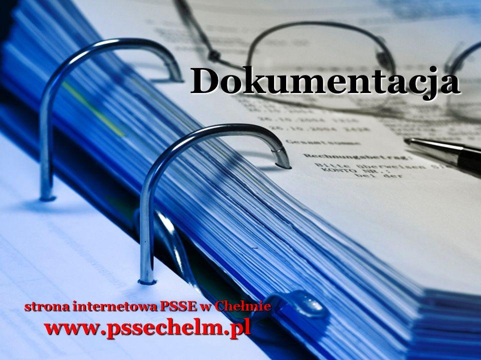 Dokumentacja strona internetowa PSSE w Chełmie www.pssechelm.pl