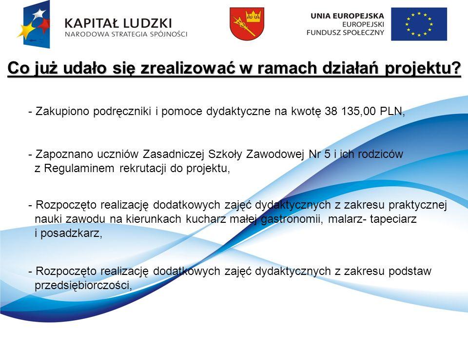 Co już udało się zrealizować w ramach działań projektu.
