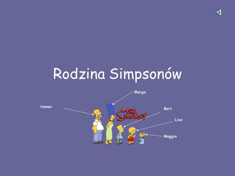 Rodzina Simpsonów Homer Marge Bart Lisa Maggie