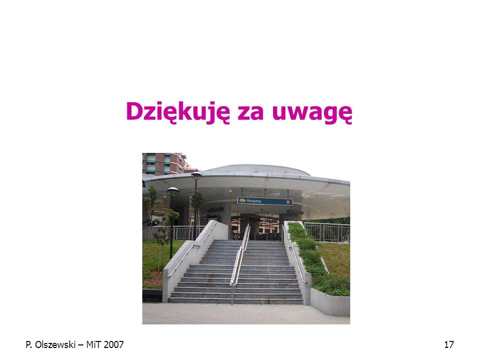 P. Olszewski – MiT 200717 Dziękuję za uwagę