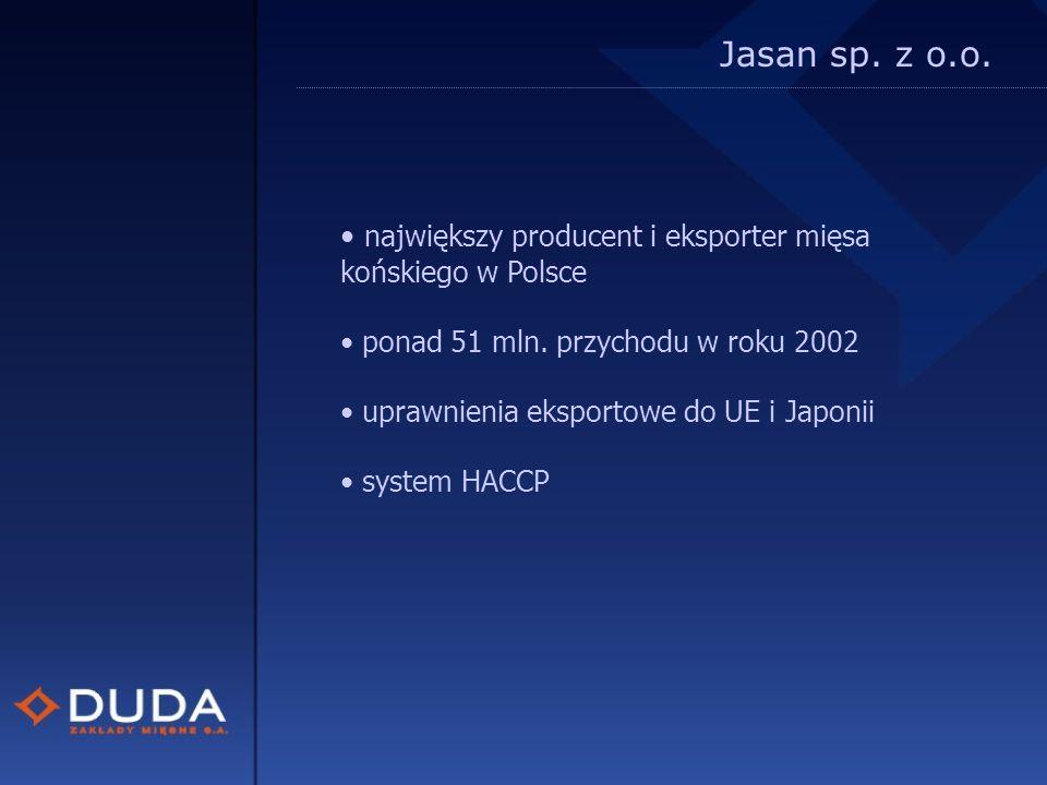 Jasan sp. z o.o. największy producent i eksporter mięsa końskiego w Polsce ponad 51 mln.