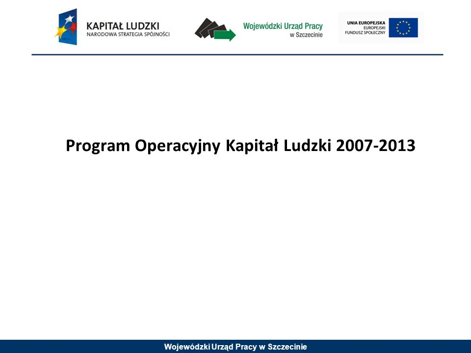 Wojewódzki Urząd Pracy w Szczecinie Rok 2009 - kryterium strategiczne 10 pkt: Grupę docelową w projekcie, w co najmniej 30%, stanowią osoby niepełnosprawne.