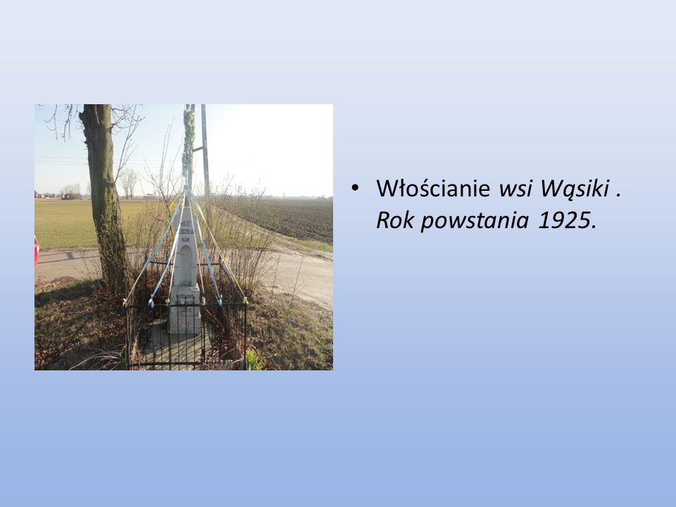 Włościanie wsi Wąsiki. Rok powstania 1925.