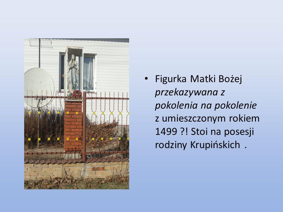Obecny krzyż jest darem pani Emilii Sobieckiej mieszkanki wsi Janin, mamy absolwenta naszej Szkoły księdza Tomasza Sobieckiego.