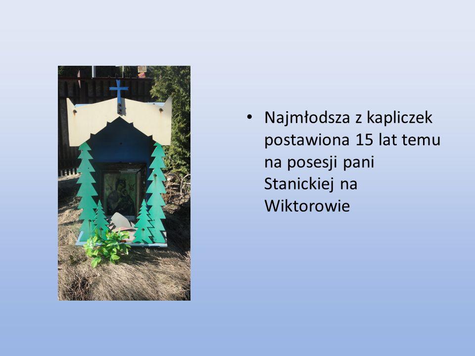 Rok powstania kapliczki 1894.