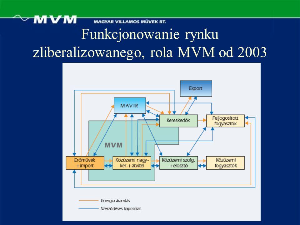 Funkcjonowanie rynku zliberalizowanego, rola MVM od 2003