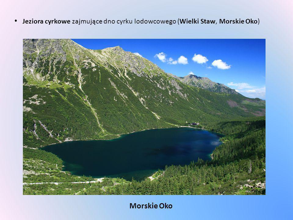 Jeziora cyrkowe zajmujące dno cyrku lodowcowego (Wielki Staw, Morskie Oko) Morskie Oko z-ne.pl