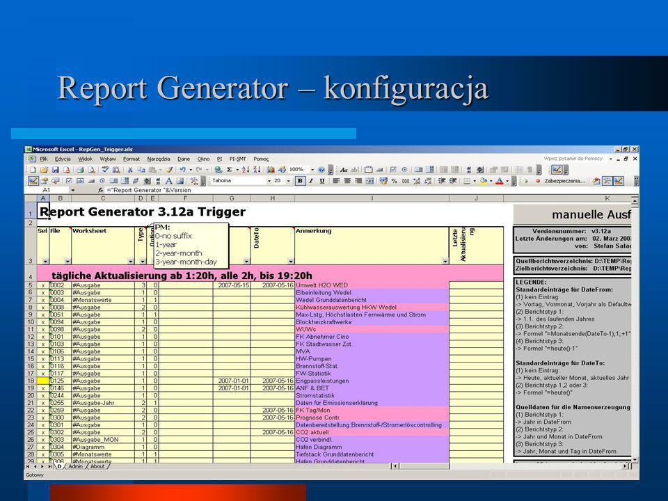 Report Generator – konfiguracja