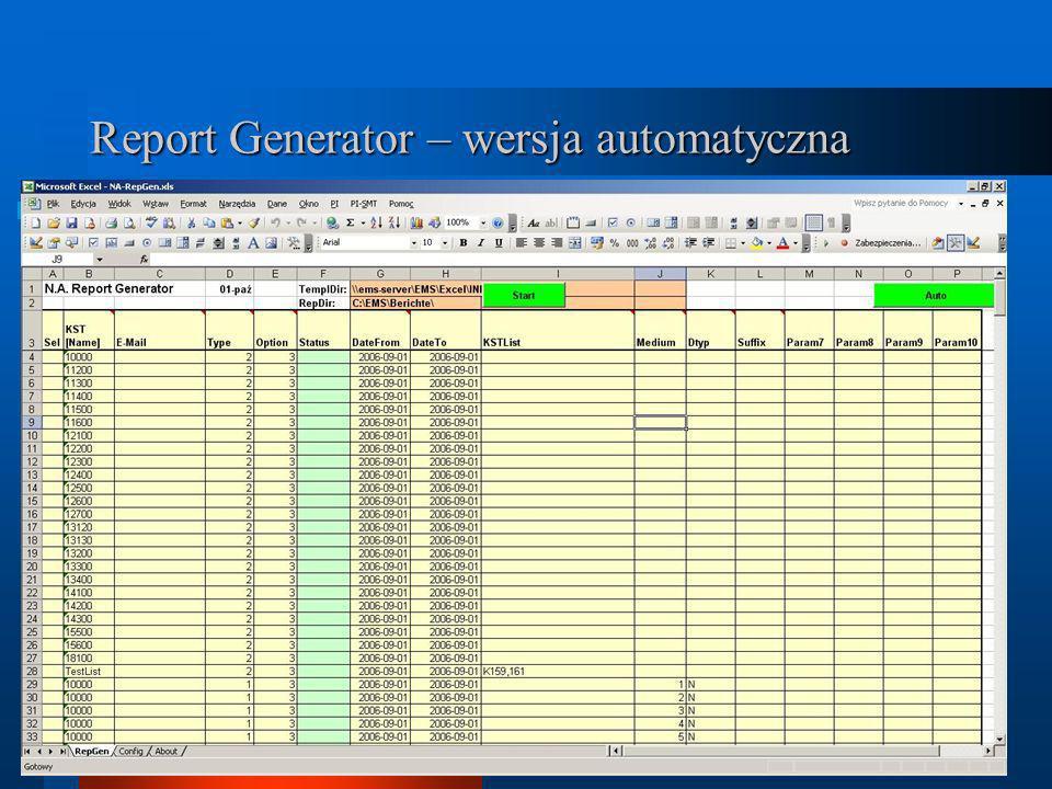 Report Generator – wersja automatyczna