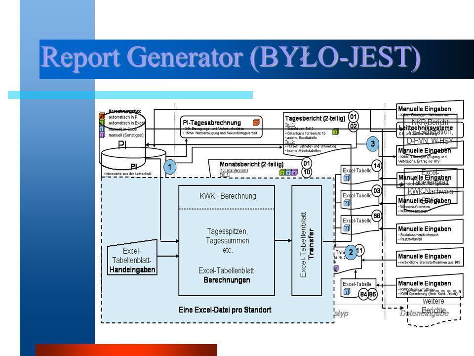 Report Generator (BYŁO-JEST)