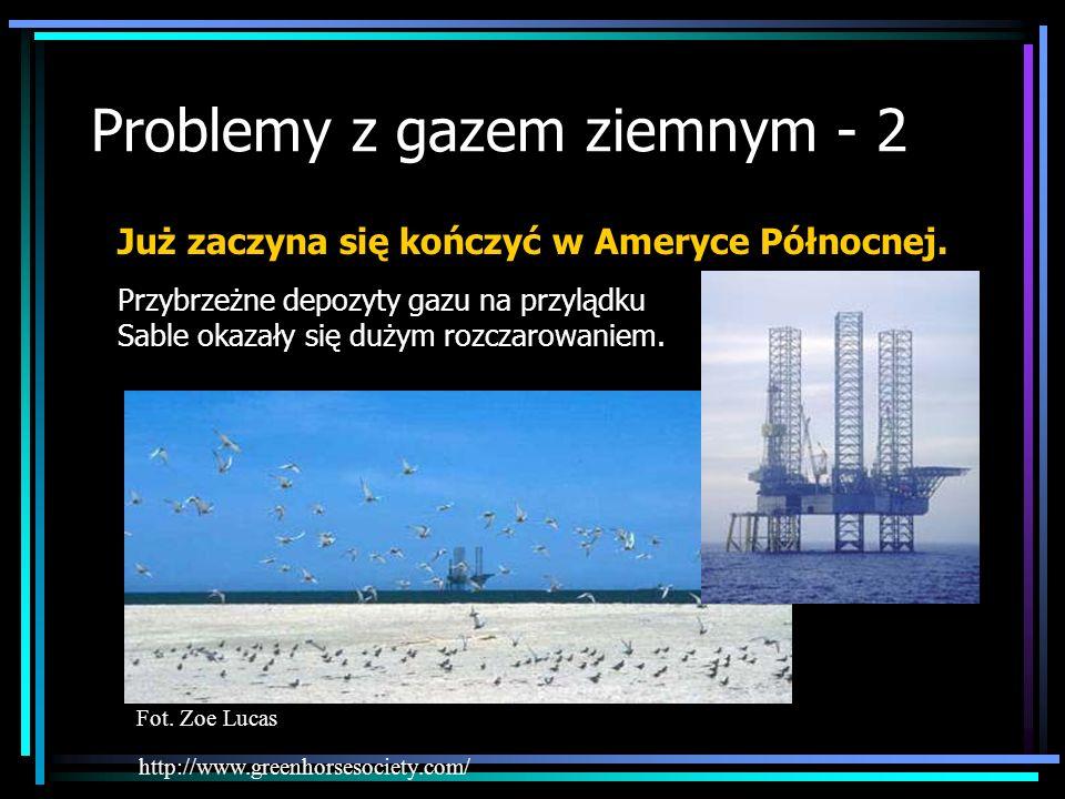Problemy z gazem ziemnym - 2 http://www.greenhorsesociety.com/ Już zaczyna się kończyć w Ameryce Północnej. Przybrzeżne depozyty gazu na przylądku Sab