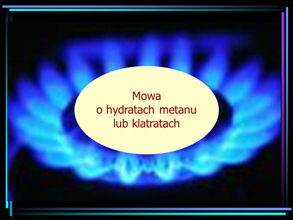 Mowa o hydratach metanu lub klatratach