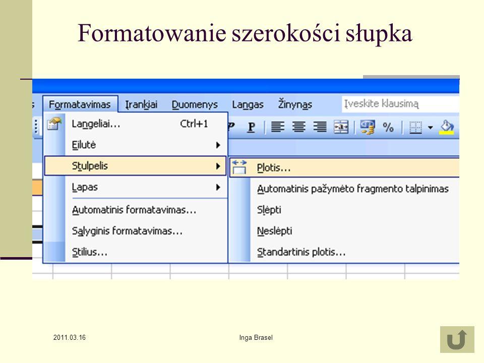 2011.03.16 Inga Brasel7 Automatyczne zapełnianie tabelek